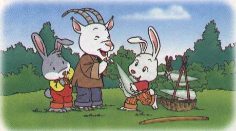 老山羊又把一车白菜送给小白兔