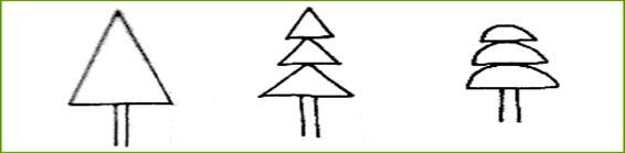 三角形和半圆形组成的树.图片