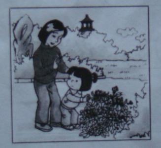 不要摘花图片摘花 卡通 看图写话不要摘花