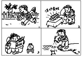 二年级看图写话保护青蛙