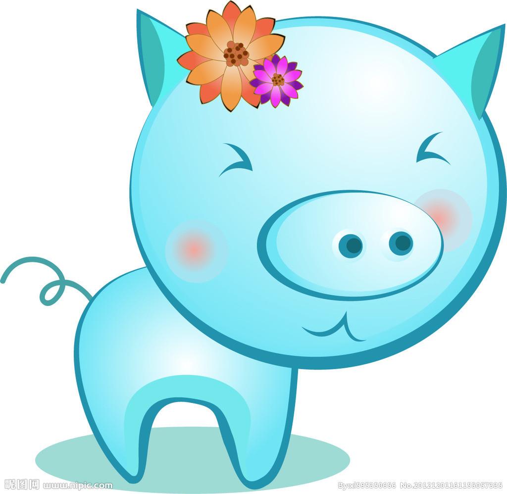 可爱小猪微信头像