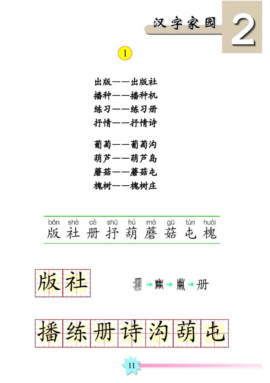 三字经体高考作文_汉字家园 一 《出版 播种 练习》