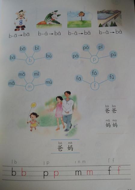 汉语拼音 第三课 b p m f